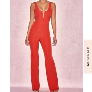 House of CB Natalja red jumpsuit xs